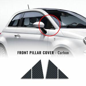 Adesivi Coprimontanti Anteriori Carbonio Fiat 500 e 500 Abarth