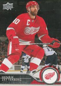 Henrik Zetterberg 2014-15 Upper Deck Series 1 #68 Detroit Red Wings LW Like New