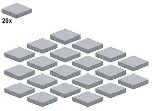 Used-LEGO-Smooth-Parts-Lightbluishgray-3068b-10-2x2-20Stk-Fliese