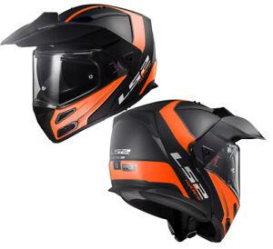 LS2-FF324-METRO-EVO-DUAL-VISOR-FLIP-UP-MOTORBIKE-ADVENTURE-HELMET-RAPID-ORANGE
