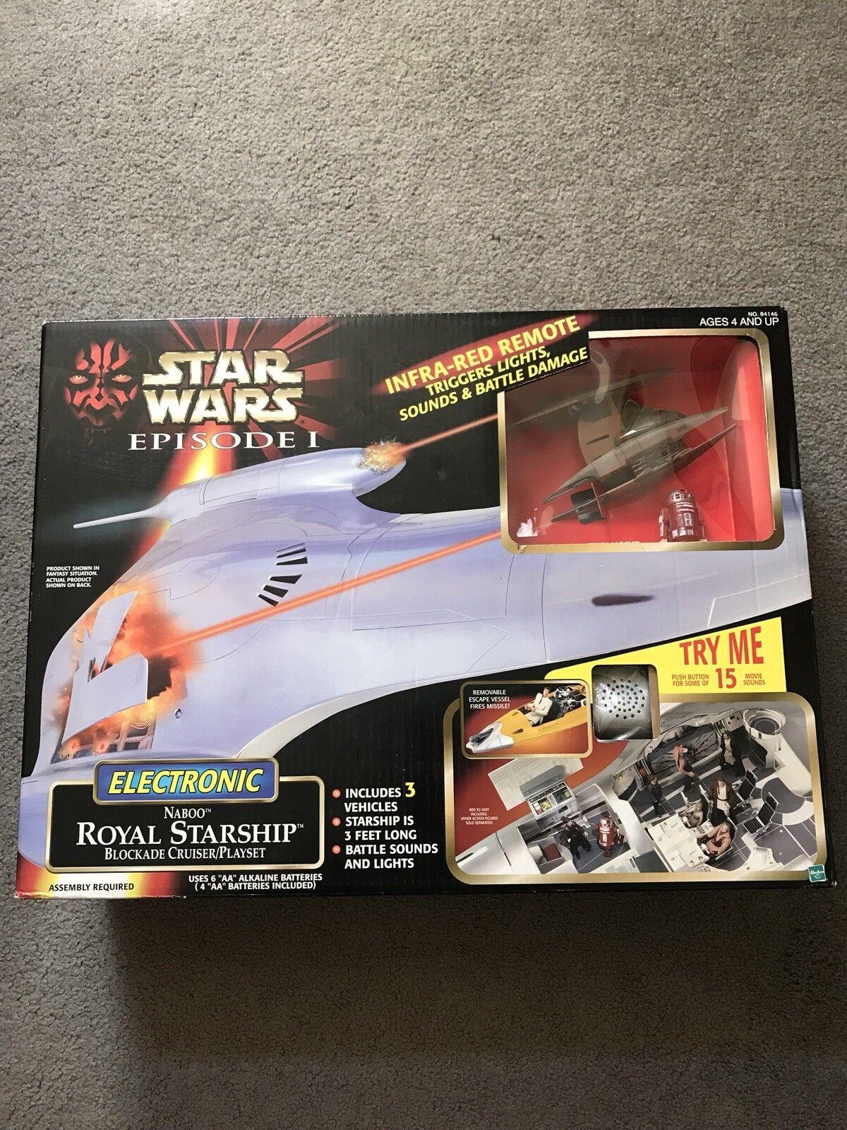 Envío 100% gratuito Estrella Wars Wars Wars episodio 1 electrónico Naboo Royal Estrellaship bloqueo Cruiser Jugarset  ofreciendo 100%