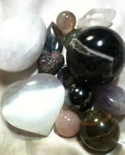 13 Stones - Hematite, Quartz, Amethyst, Labradorite, Rose Quartz, Charoite, Jade