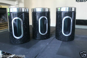3-PIECE-MARBLE-TEA-COFFEE-SUGAR-JARS-CANISTERS-KITCHEN-STORAGE-JARS-NEW