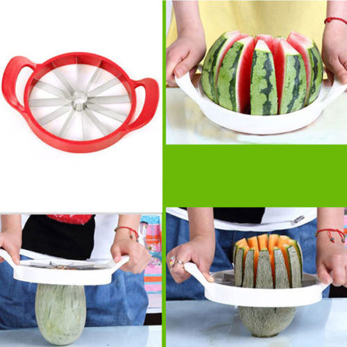 Fruit Melon Cantaloupe Slicer Watermelon Slicer Kitchen Tool Stainless Cutter UK