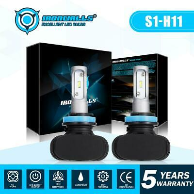 IRONWALLS  H11 H9 H8 LED Headlight Kit 270000LM 1800W 6000K Low Beam Bulbs CSP