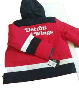 Carl Banks Men's Large Detroit Red Wings NHL Jacket Hoodie  010521E1