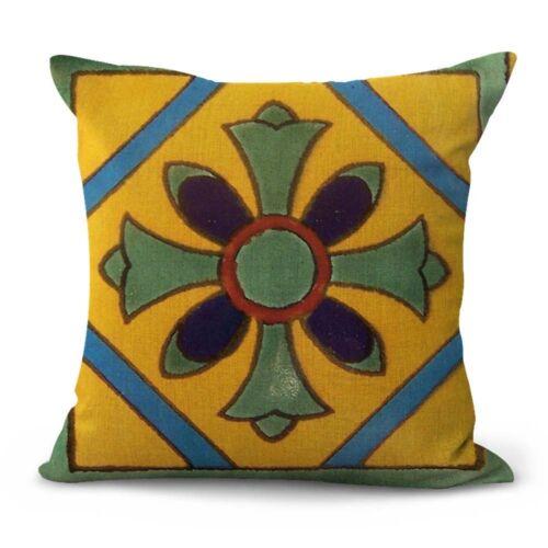 US Vendeur-Lot de 4 décoratif pillow Mexican Talavera azulejo housses de coussin