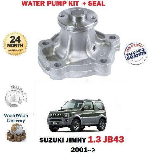 FOR SUZUKI JIMNY 1.3 SEAL KIT 4X4 JB43 M13A 16v 2//2001--/> NEW WATER PUMP