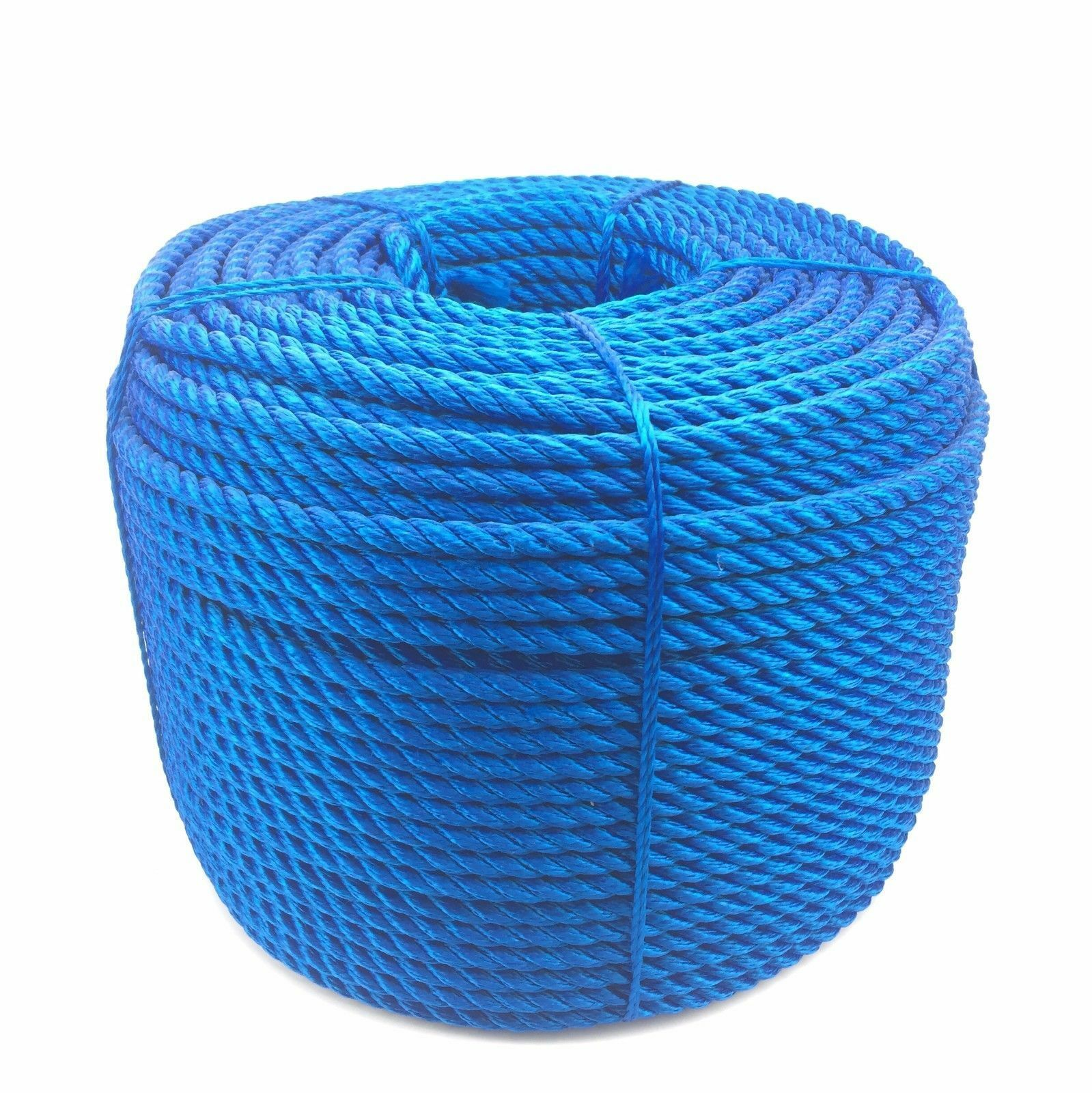 14mm Royal bluee 3 Strand Multifilament x 30 Metres, Floating Rope Softline Rope
