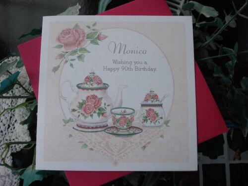 Personalised Handmade Birthday Card - Female 50th, 60th, 70th, 80th any age