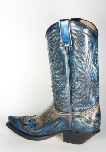 3241 Sendra Botas de Cowboy Denver Azul Hueso Botas Vaqueras Azul