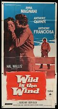 WILD IS THE WIND Anthony Quinn ORIGINAL 1958 3 SHEET VINTAGE HUGE Movie Poster