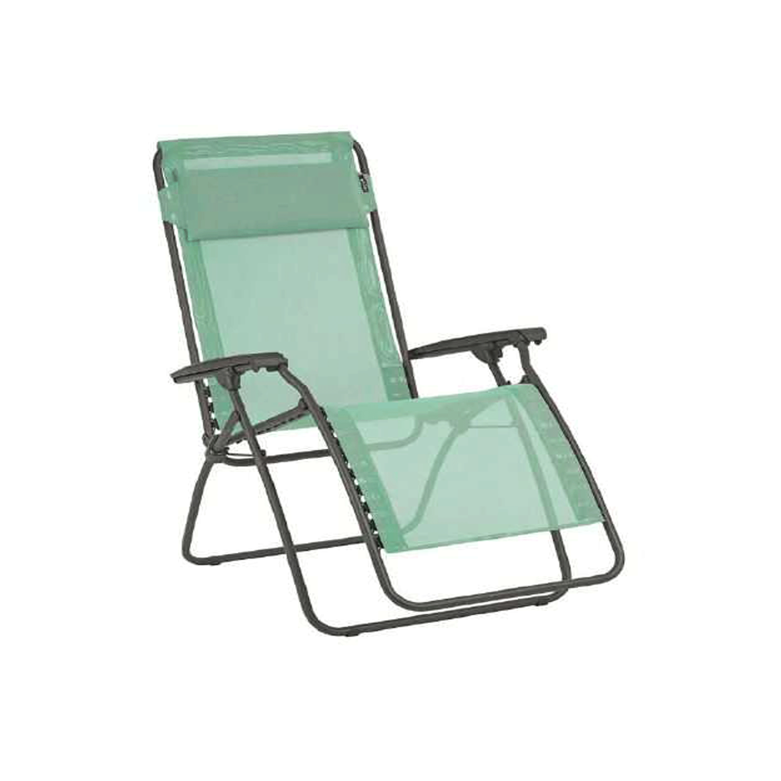 Lafuma R Clip Zero Gravity Compact Sling Outdoor Recliner Lounge Chair, Menthol