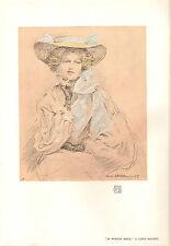 1903 STUDIO PRINT ~ IN PENSIVE MOOD by LEWIS BAUMER