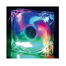 CoolJag Silent 120mm Crystal LED Fan LED-12C, 4 Colors: Blue, Red, Orange, Green