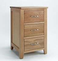 Sherwood Oak 3 Drawer Cabinet / Small Chest Of Drawers / Light Oak Chest