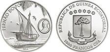 2014 Equatorial Guinea Large Silver Proof 1000 Francos Fernao do Po/Sailing Ship