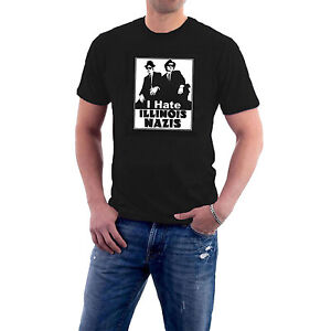 I-Hate-Illinois-Nazis-T-shirt-Blues-Brothers-Jake-amp-Elwood-Tribute-Cotton-Tee