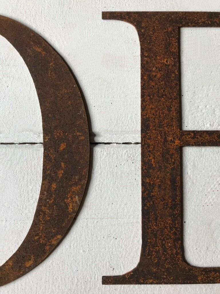 Rusty Metal Metal Metal Noel Word Iron Letters Hanging Rustic Wall Mantel Xmas Decoration 3ff866