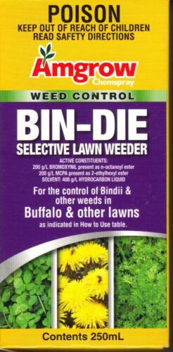 BINDIE Clover Oxalis Bindi SELECTIVE LAWN WEEDER 250ml Buffalo Safe FREE P&H