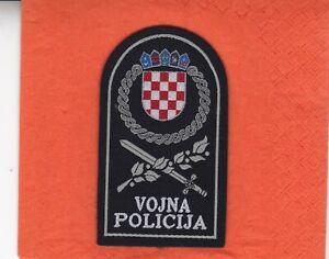 Kroatien - Militärpolizei - Ärmelabzeichen - Rarität!