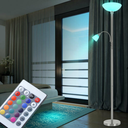 LED Floor Lamp RGB Remote Control Flexo Lamp Living Room uplighter dimmable
