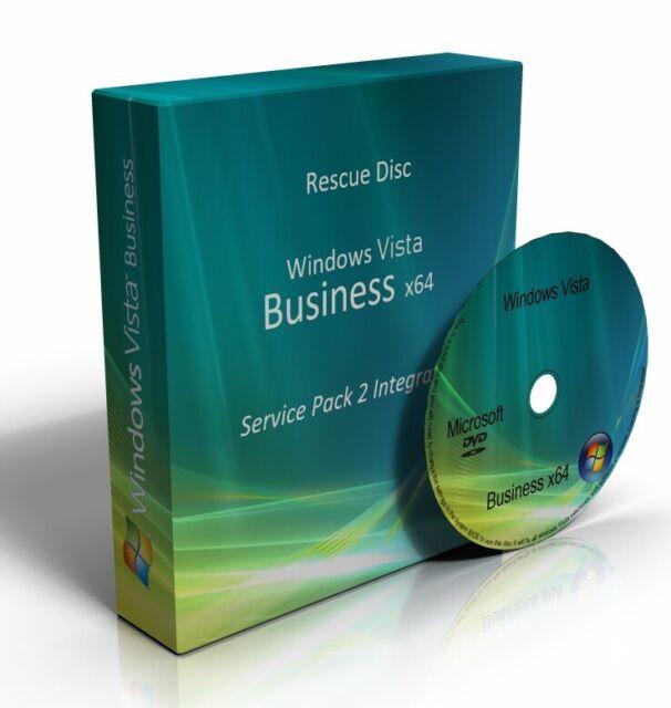 Windows Vista Business 64 Bit re-installare ripristinare la riparazione di recupero SP2 Boot DVD