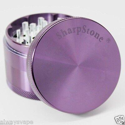 "Sharpstone Herb Grinder 2.5"" Inch 4 Piece Hardtop Aluminum Authentic Purple"