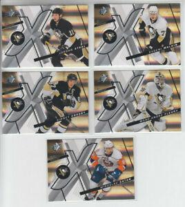 08-09-UD-SPX-Pittsburgh-Penguins-5-cards-Crosby-Staal-Fleury-Malkin-Satan