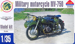 AIM-Military-Motorcycle-MV-750-with-Sidecar-Seitenwagen-1-35-Bausatz-Kit-35003