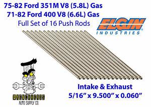 Elgin-PR310S-Set-of-16-Ford-351M-400-V8-Engine-Push-Rods-5-16-034-x-9-500-034