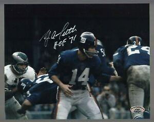 Y-A-Tittle-Signed-Auto-Color-Giants-8x10-Photo-W-HOF-71-SCH-Auth-27687-50