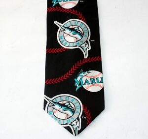 MLB-Baseball-Sports-MIAMI-FLORIDA-MARLINS-Mens-CRAVAT-DRESS-NECKTIE-TIE-New