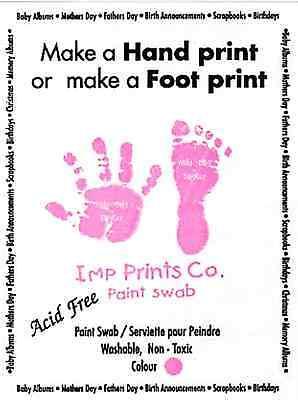 New Baby Girl Pink Toddler Newborn Imprint Paint Wipe