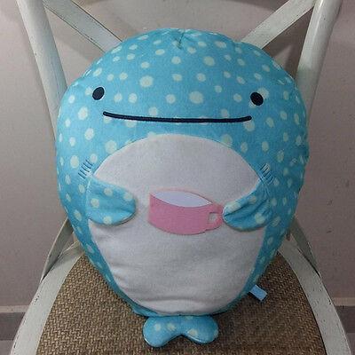 "Big San-x Whale Shark Drinking Plush Doll Jinbei-San Toy Super Cute Pillow 17"""