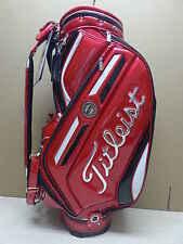 Titleist Japan CB610 Staff Caddy Cart Golf Bag, Red Color - NEW