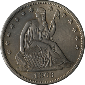 1863-S Seated Half Dollar AU/BU Details Decent Eye Appeal Nice Strike