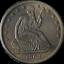 thumbnail 1 - 1863-S Seated Half Dollar AU/BU Details Decent Eye Appeal Nice Strike