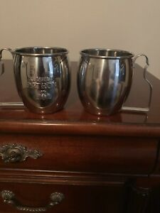 (2) NEW Patron Tequila Moscow Mule Mugs Stainless Steel Collectible Cups
