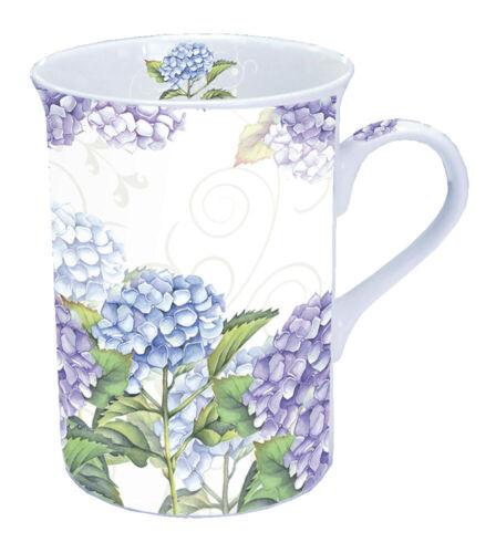 "Porzellan-Tasse/""Hortensia/""Hortensien*Nostalgie*Vintage*0,25l*Becher*Bone China"