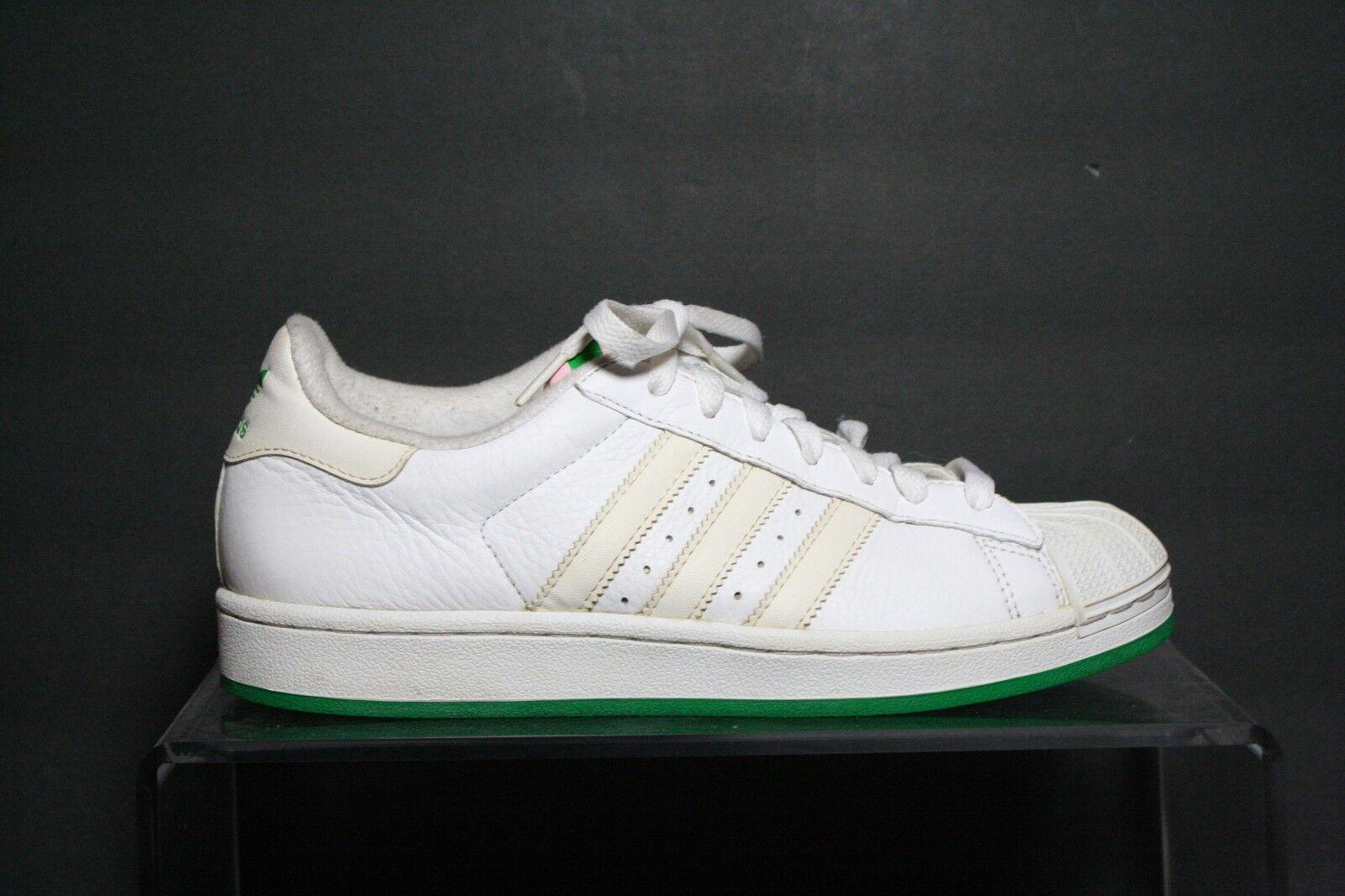 Adidas Superstar VTG 04' Sneaker Athletic Multi Plaid Hip Women 8.5 Leather Pink