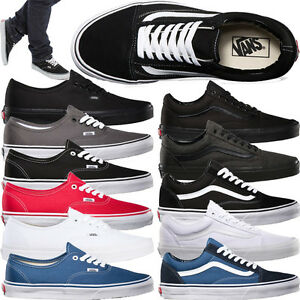 VANS AUTHENTIC MENS BOYS GIRLS CANVAS-LEATHERS- SHOES-BOOTS (NEW 100 ... 07dd0eef774e