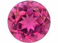 2 pcs Rubellite Tourmaline 3.9 - 4.1 mm Round Brilliant