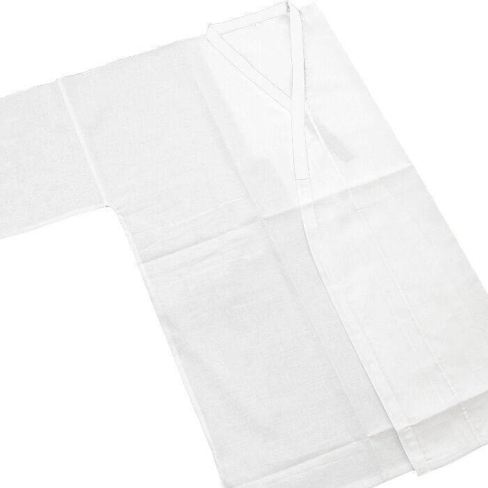Japanese Men's Traditional Kimono inner under wear Tshirt Juban White from JAPAN