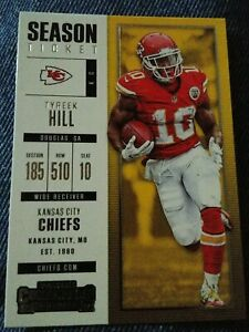 2017-Panini-Contenders-67-Tyreek-Hill-Season-Ticket-Kansas-City-Chiefs-Card