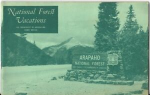 Official 1968 USDA Guidebook NATIONAL FOREST VACATIONS Photos Map ...
