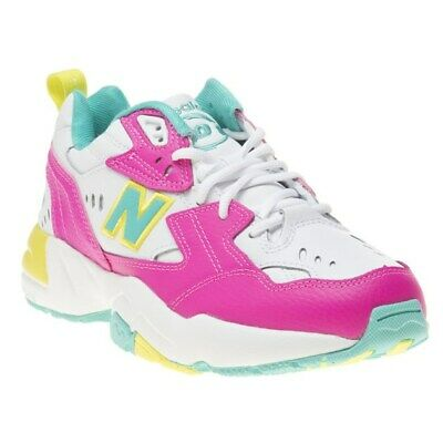 La tranquillità erupt Documento  New WOMENS NEW BALANCE PINK MULTI 608 LEATHER Sneakers Running Style | eBay