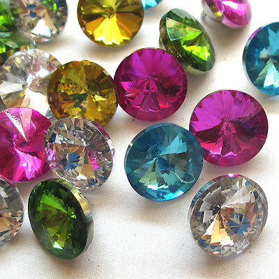 New 20pcs Sofa Curtain Glass Buttons Rhinestone 20mm Sewing Craft T0822