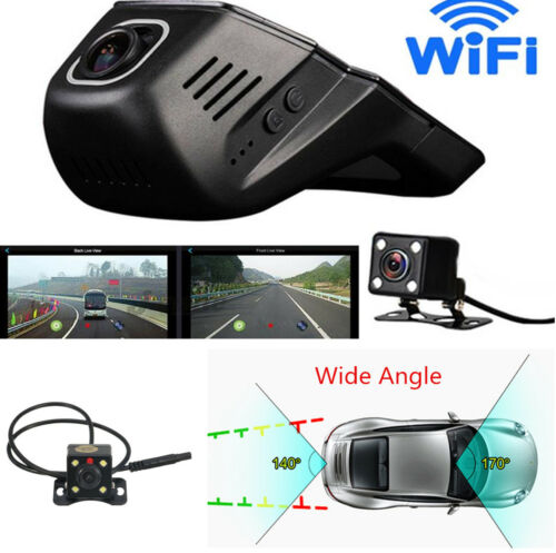 HD Hidden Wifi Car DVR Dual Lens Video Recorder Night Vision Parking Monitoring