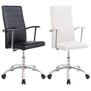 Silla-de-oficina-giratoria-sillon-escritorio-Blanco-o-Negro-modelo-Look